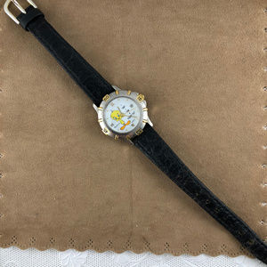 Armitron Accessories - Vintage Tweety Bird Date Watch 2 Tone Black Strap